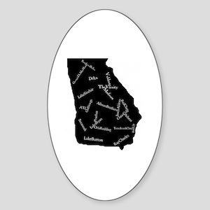 State of Georgia Sticker (Oval)