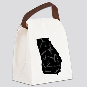 State of Georgia Canvas Lunch Bag