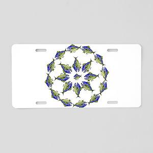 Retro Tuna Ring. Fish Retro Aluminum License Plate