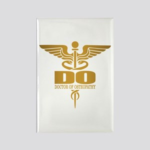 Gold Caduceus (DO) Magnets