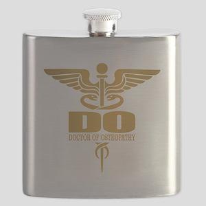 Gold Caduceus (DO) Flask