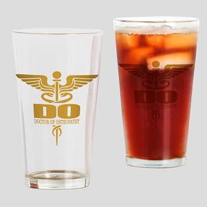 Gold Caduceus (DO) Drinking Glass