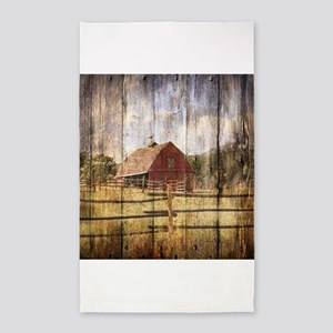 farm red barn wood Area Rug