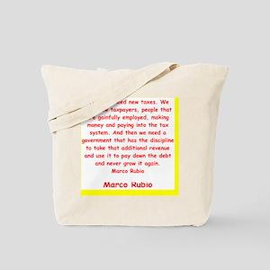 marco rubio quote Tote Bag