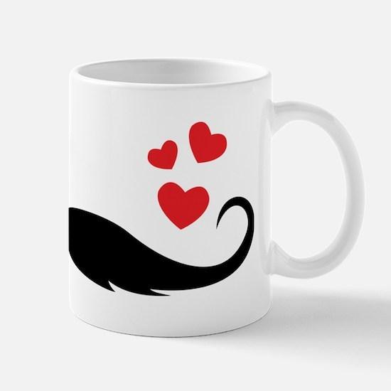 Cool I heart moustache Mug