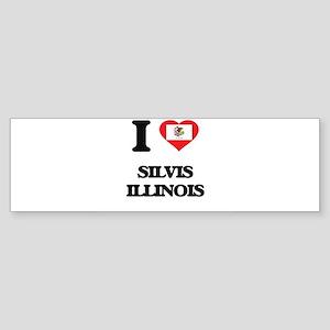 I love Silvis Illinois Bumper Sticker