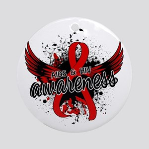 AIDS & HIV Awareness 16 Ornament (Round)