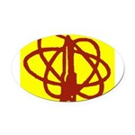 Library SF Genre Label Oval Car Magnet