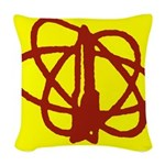 Library SF Genre Label Woven Throw Pillow