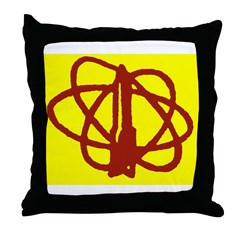 Library SF Genre Label Throw Pillow