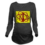 Library SF Genre Label Long Sleeve Maternity T-Shi