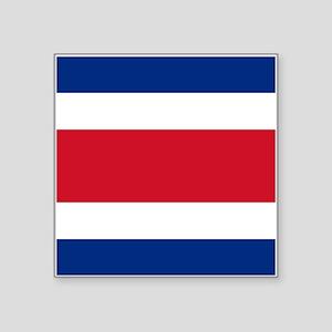 """Costa Rica Flag Square Sticker 3"""" x 3"""""""