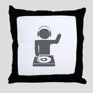 music p 112-Mus gray Throw Pillow