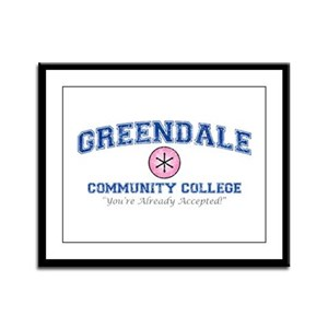 Greendale Already Accepted Framed Panel Print