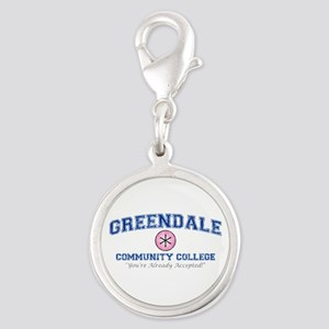 Greendale Already Accepted Silver Round Charm