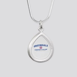 Greendale Already Accepted Silver Teardrop Necklac