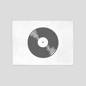 music p 116-Mus gray 5'x7'Area Rug