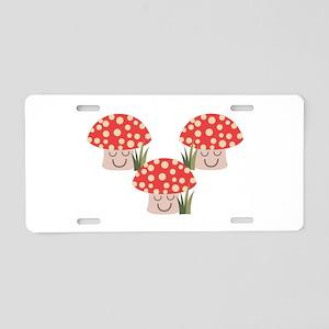 Forest Mushrooms Aluminum License Plate