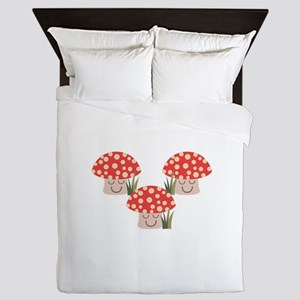 Forest Mushrooms Queen Duvet