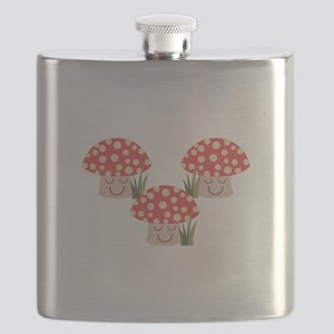 Forest Mushrooms Flask
