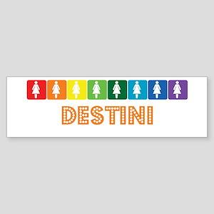 Lesbian Destini Bumper Sticker