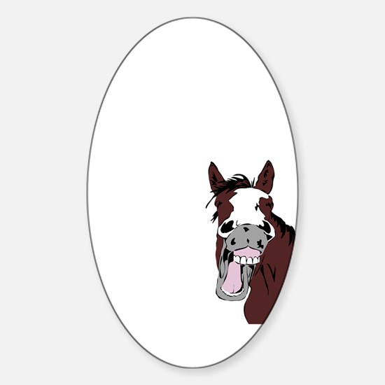 Cartoon Horse Laughing Funny Equestrian Decal