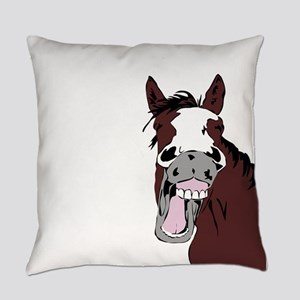 Cartoon Horse Laughing Funny Equestrian Art Everyd