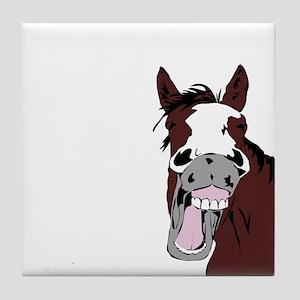 Cartoon Horse Laughing Funny Equestrian Art Tile C