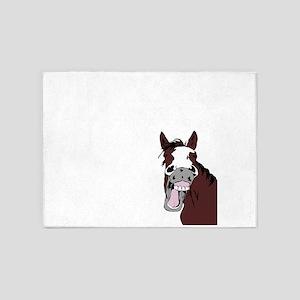 Cartoon Horse Laughing Funny Equestrian Art 5'x7'A