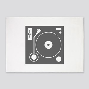 music p 73-Mus gray 5'x7'Area Rug