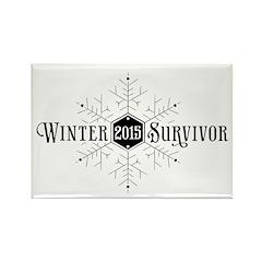 Winter 2015 Survivor Rectangle Magnet (100 pack)