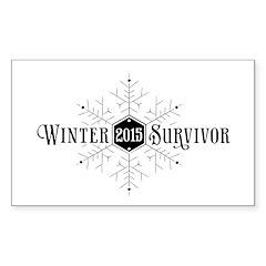 Winter 2015 Survivor Sticker (Rectangle)