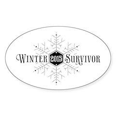 Winter 2015 Survivor Sticker (Oval)