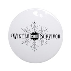 Winter 2015 Survivor Ornament (Round)