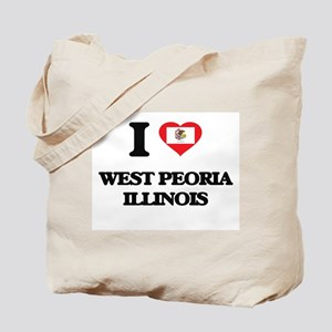 I love West Peoria Illinois Tote Bag