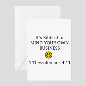 Mind your own business greeting cards cafepress mind your own business its biblic greeting cards m4hsunfo