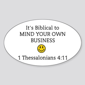 Mind Your Own Business, It's Biblical Sticker