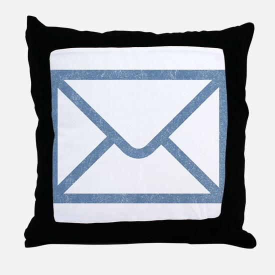 Vintage Email Throw Pillow
