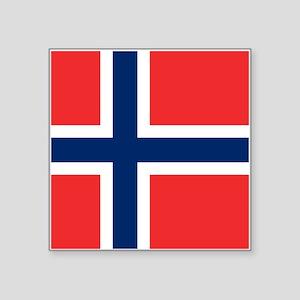 "Norway Flag Square Sticker 3"" x 3"""