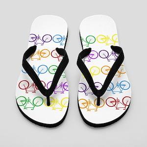 rainbow bicycles Flip Flops