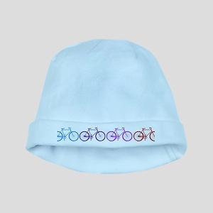 rainbow bicycles baby hat