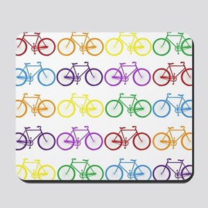 rainbow bicycles Mousepad