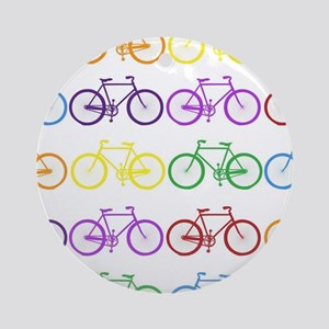 rainbow bicycles Ornament (Round)