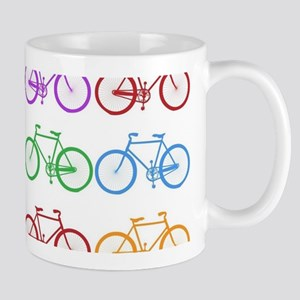 rainbow bicycles Mugs