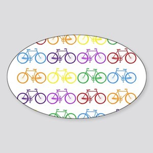 rainbow bicycles Sticker