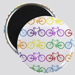 rainbow bicycles Magnets