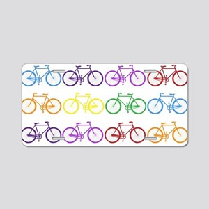 rainbow bicycles Aluminum License Plate
