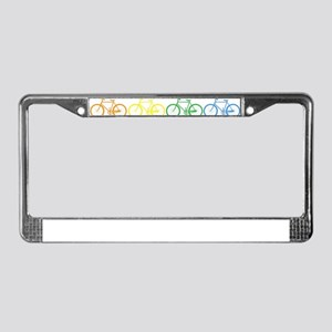 rainbow bicycles License Plate Frame