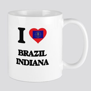I love Brazil Indiana Mugs