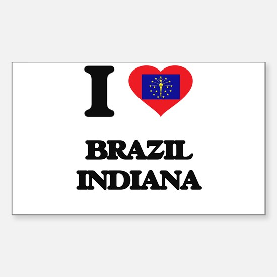 I love Brazil Indiana Decal